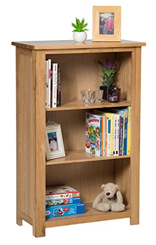waverly-oak-small-bookcase-with-adjustable-shelves-in-light-oak-finish-ample-storage-space-116cm-hom