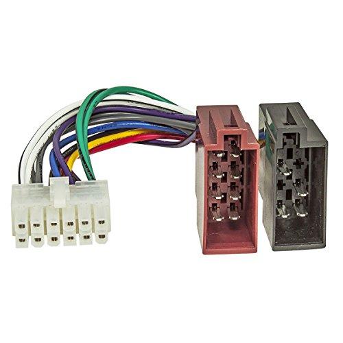 tomzz Audio 7000-026 Autoradio Anschlußkabel für Pioneer Radios 12 polig 27x10mm auf ISO Stecker Buchsen