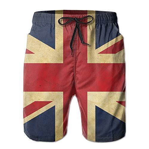 khgkhgfkgfk Men's British Flag Retro Quick Dry Summer Beach Surfing Board Shorts Swim Trunks Cargo Shorts Large Lace Velvet Romper