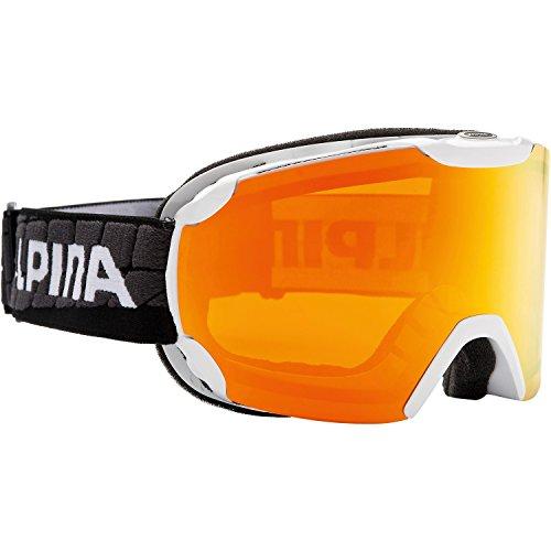 ALPINA Skibrille weiß Einheitsgröße