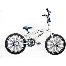 Bicicletta Bambino Ragazzo 20 Pollici Altec Freestyle BMX Freni V-Brake 85% Assemblata Bianco Blu - 20 Ragazze Bmx Bicicletta
