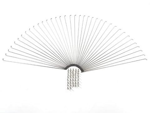 37 De rayons pour débutants nirosta en acier inoxydable 285 mm x 2 mm argent nipple speichennippel
