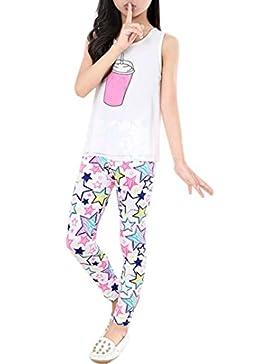 Leggings para Niñna SMARTLADY Niña Clásico Pantalones Impresión de la flor