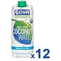 GOYA Agua de coco orgánica - 12 de 500 ml. (Total: 6000 ml.)