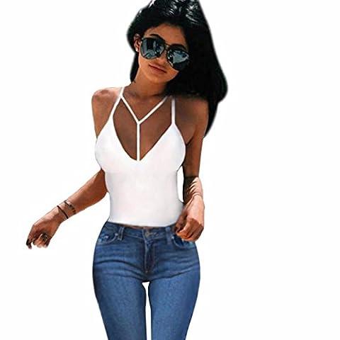 Zolimx Frauen Bra Crop Tank Top Bustier Bralette Korsett übersteigt Blusen T-Shirt (S, Weiß) (Weiß Damen Strass-herz-t-shirt)
