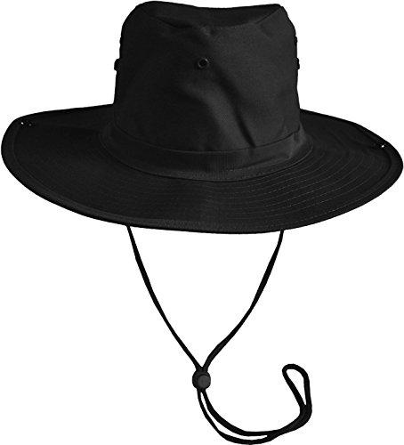 ut mit breiter, umklappbarer Krempe Farbe Schwarz Größe 55 (Kostüme Zubehör Australien)
