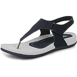 Trase QURE Navy Blue Women's Dailywear Footwear / Sandal ( Ultra Light Eva Sole) - 5 IND/UK