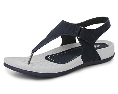 Trase QURE Navy Blue Women's Dailywear Footwear / Sandal ( Ultra Light Eva Sole) - 7 IND/UK
