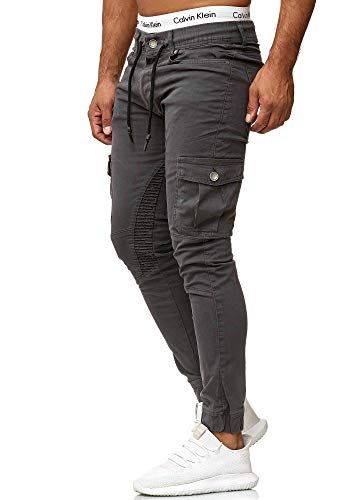 OneRedox Herren Chino Pants | Jeans | Skinny Fit | Modell 3207 Antrazit 31/32 (Weiße Jogging-outfit)