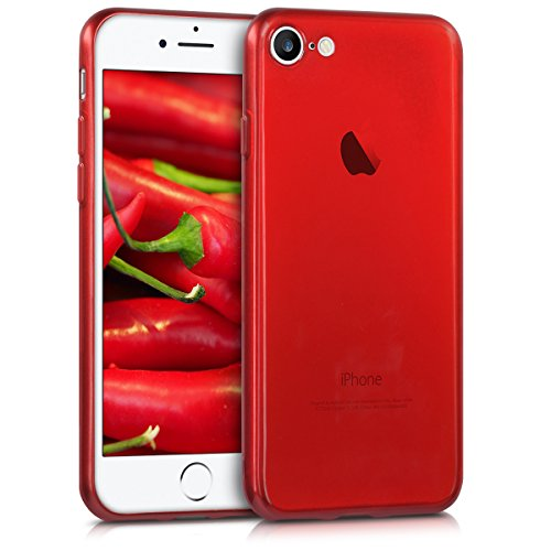 kwmobile Apple iPhone 7/8 Hülle - Handyhülle für Apple iPhone 7/8 - Handy Case in Hochglanz Rot
