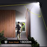 Onforu 2 Pack 20W LED Floodlights with Motion Sensor, IP66 Waterproof 1800lm Outdoor Security Lights, 5000K Daylight White Super Bright PIR Flood Lights, 120W Halogen Bulb Equivalent Replacement for Garden, Garage … from Onforu