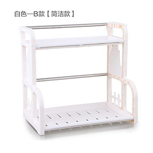 MEICHEN-Cucina rack multifunzione 2 tier di storage condimento rack double-decker