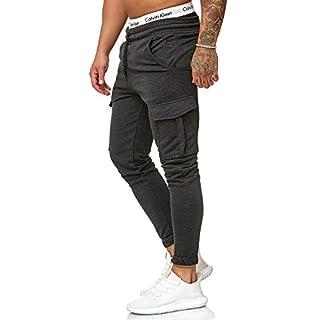 OneRedox Herren Jogging Hose Jogger Streetwear Sporthose Modell 1213 Antra S