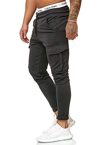 OneRedox Herren Jogging Hose Jogger Streetwear Sporthose Modell 1213 Antra L