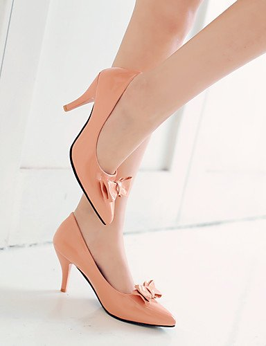 WSS 2016 Chaussures Femme-Bureau & Travail / Habillé-Noir / Rose / Blanc-Talon Aiguille-Talons / Bout Pointu-Talons-Similicuir pink-us5 / eu35 / uk3 / cn34