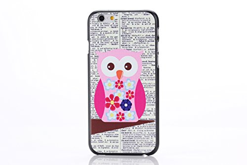 Apple iPhone 6 4.7 HARD bumper PINK QUOTE design case coque housse smartphone Flip bag Cover Bumper smartphone protection thematys® Eule Wörter