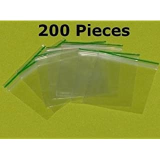 200pcs 30mm x 30mm Small Clear Poly Plastic Grip Seal