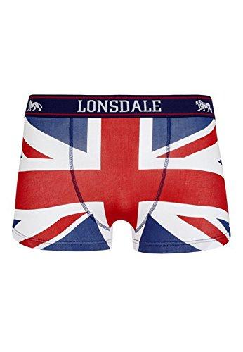 Lonsdale Herren Boxershort Tisbury - Doppelback, Farbe:navy/red/white;Größe:XXL