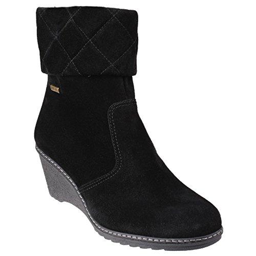 Cotswold Cornwell Damen Ankle Boots mit Keilabsatz Schwarz