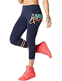 Zumba Fitness Womens Love Perfect Crop Leggings Bottoms