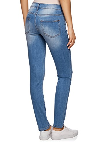 89953f673732 oodji Ultra Damen Jeans Slim Fit Basic Blau 7500W -invasao-das-mega ...