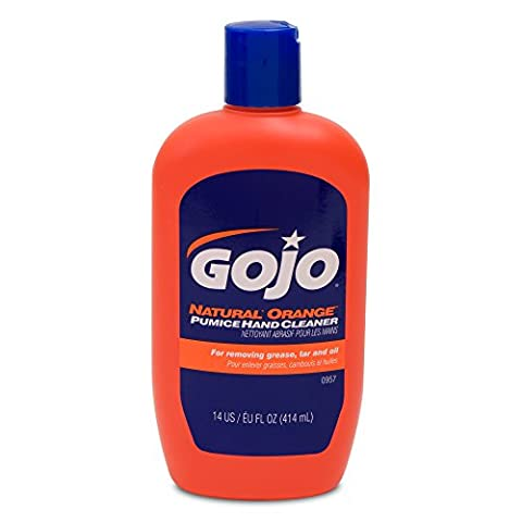 Gojo Natural Orange Hand Cleaner Grease-removing with Pumice Particles and Aloe 414ml Ref N07150