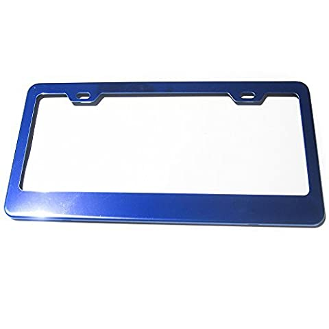 Candy Blue Powder Coated 100% Stainless Steel License Plate Frame