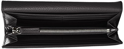 HUGO Mayfair Continental - Portafogli Donna, Nero (Black), 1.5x10x19 cm (B x H T)