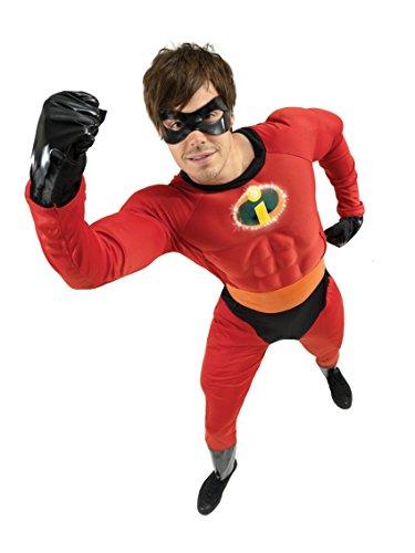 Rubie 's Offizielles Mr. Incredible, Erwachsenen Kostüm–XL bis 116,8cm - Unglaubliche Herr Kostüme