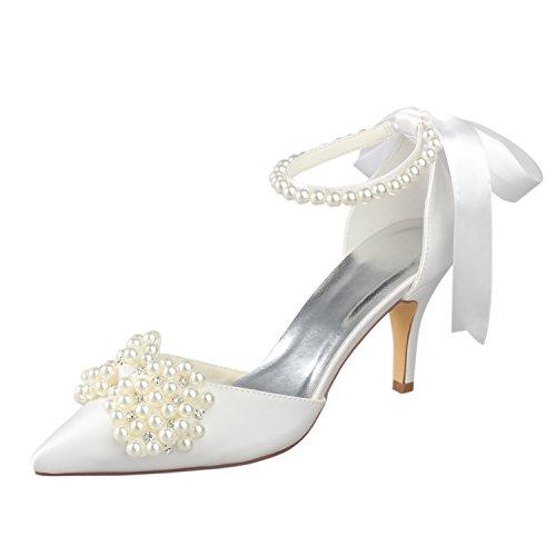 Accesorio decorativo con diseño de lazo, con clip y brillantes, para zapatos de novia o para boda azul azul