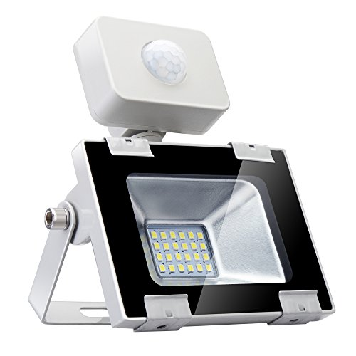 20W ultradünner LED-Strahler mit Bewegungsmelder, LED-Outdoor-Superhelles Flutlicht, 2000LM 6500K Wasserdichte IP65-Außenwandleuchte für Garten, Garage, Sportplatz oder Golfplatz (20W kaltweiß) -