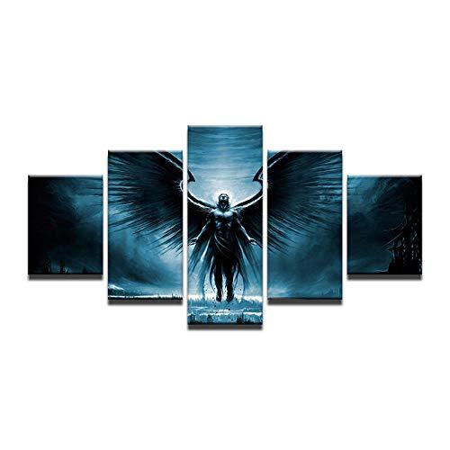 WEPAINT Dark Angel Black Wings HD Leinwand Malerei Für Wohnzimmer Home Wand Moderne Kunst Decor Poster Drucke 30X40 30X60 30X80 cm_