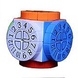 3D Multidimensional Data Speed Cube 3 * 3 * 3 Puzzle, impresión Cube Ciego Huellas Dactilares en Relieve Rubik Cube Cube Fácil de Girar y Juego Suave Juego de Rompecabezas - Caja de Pandora