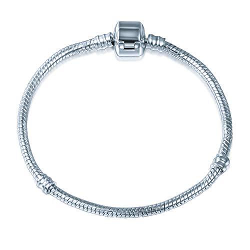 A TE® Armband Bead Clip Charms Trägerelemente 3 Size 18CM/20CM/21CM #JW-B00 (20)