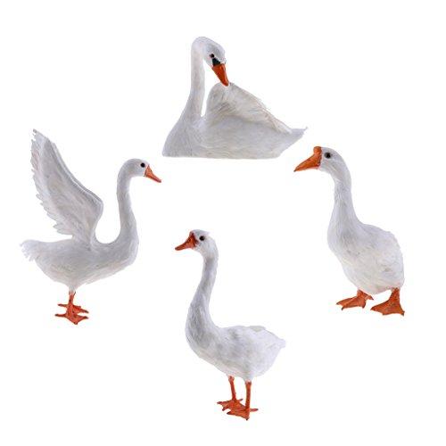 Sharplace Ornamento de Patio Frontones Decorativos Dosificadores de aliño Especias Muñeca de Patos