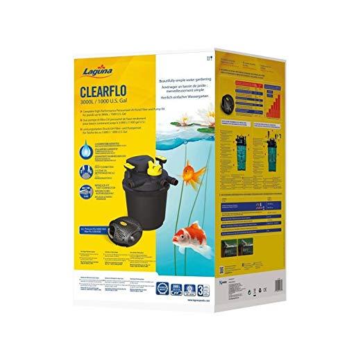 Backwash System (Laguna PT1730 Druckfilter und Hochleistungspumpe, Schwarz, Gelb, 34 x 32.5 x 60 cm)
