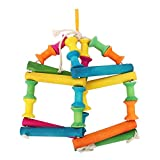 #4: SRI Natural Wooden and Chewing,Hanging Toy for Bird Style-6