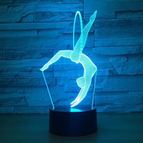 3D Optische Täuschung Nachtlicht Tanzen 7 Farben Einzigartige Lichteffekte Usb Power Touch Tischlampe Beste Geburtstagsgeschenke Für Jungen Mädchen Kinder Baby