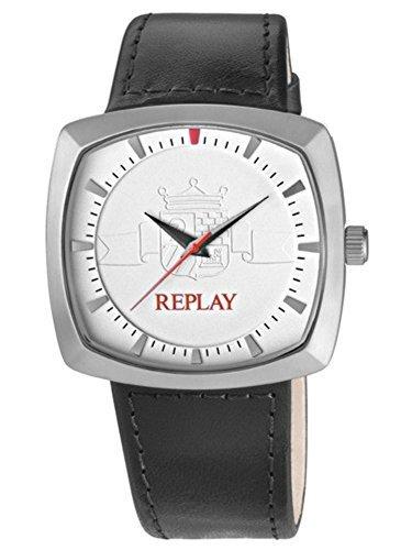 REPLAY rx5401ah1-Uhr für Männer, Lederband schwarz