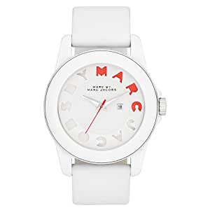 Marc by Marc Jacobs MBM4010 Women's White Icon Leather Strap White Dial Watch