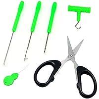 Juego de herramientas para preparar señuelos para pescar carpas, marca Sam's Fishing, Green-5 in 1