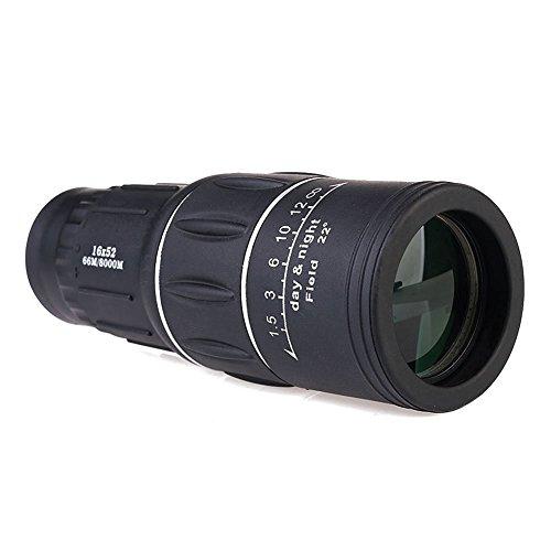 Candora™ Compact Zoom Teleskop Sport Mono Spektiv fuer Reisen Wandern Camping Outdoor-Aktivitaeten Schwarz
