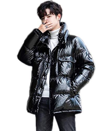 Lentejuelas pie de cuello por la chaqueta de los hombres jóvenes caliente de la capa gruesa de invierno...