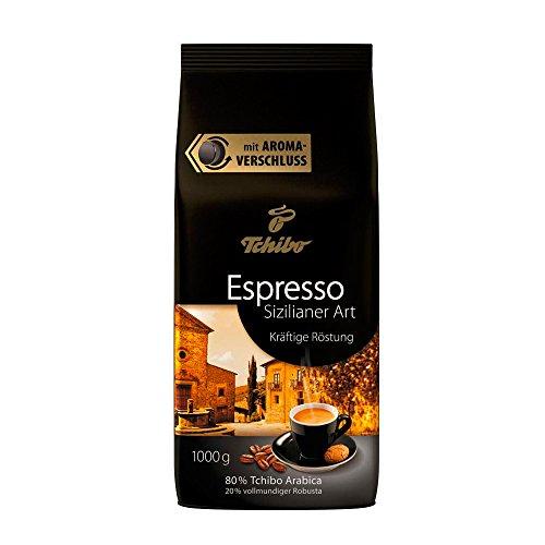 Tchibo Espresso Sizilianer Art, 1kg ganze Bohne, Kaffee-Genuss für Vollautomaten, Siebträger