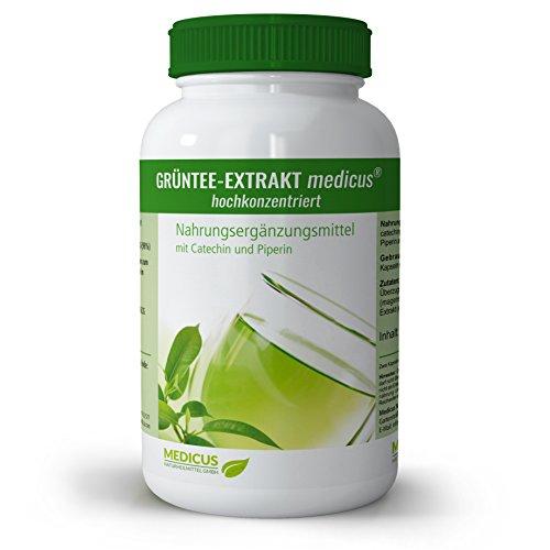 Grüntee-Extrakt von Dr. Krieg, Nahrungsergänzungsmittel für eine gesunde Ernährung, entzündungshemmende Grünteekapseln mit ECGC und Piperin, 60 Kapseln