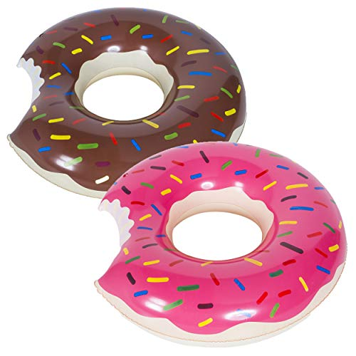 WENTS Donut Anillo de natación Inflable Flotador Gigante Buñuelo Piscina, Verano natación...