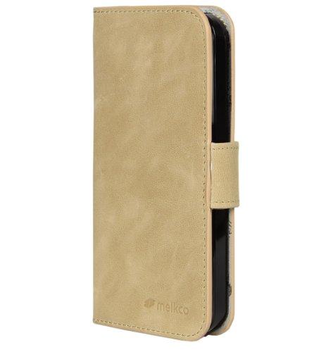 Melkco Étui type portefeuille pour iPhone 5 Vintage Khaki