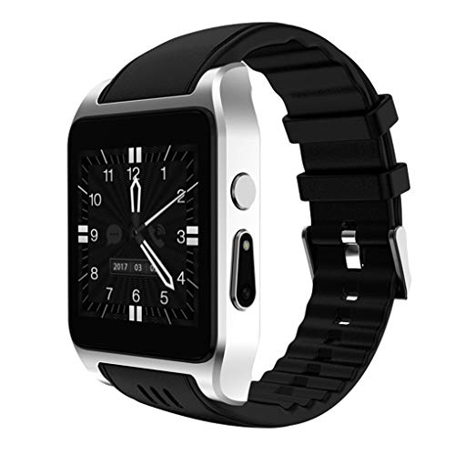 Mengonee Kompatibel mit Android Smart Watch Phone WiFi 1,54 Zoll Touch Screen-SMS Sync Bluetooth Kamera Smartwatch Touch-screen-kameras