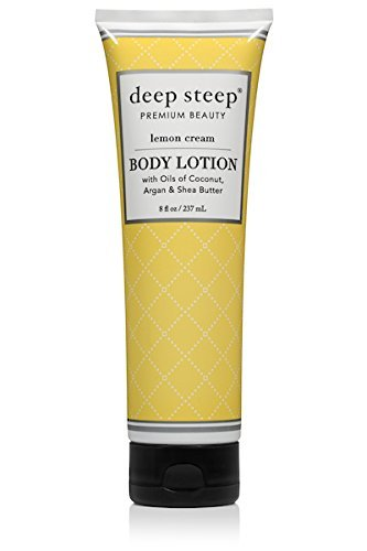 Deep Steep Body Lotion, Lemon Cream, 8 Ounce Tube -