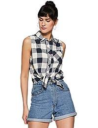 ONLY Women Checkered Regular Fit Cotton Shirt